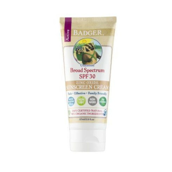 The Badger Company's zinc oxide sunscreen cream with SPF30 sun protection (S$18.54 on iHerb). Image source: Badger.