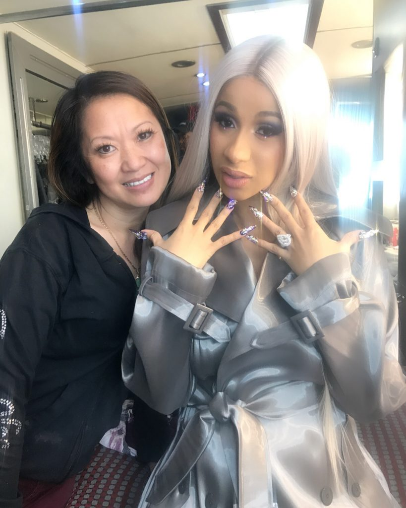 Jenny Bui and Cardi B pictured on Bui's Instagram account, @nailson7th