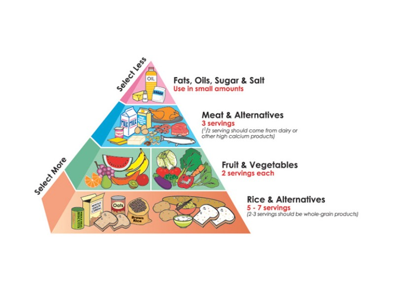 "Singaporeans may recall this nutrition diagram from the '80s and '90s, otherwise called the ""Healthy Diet Pyramid""."