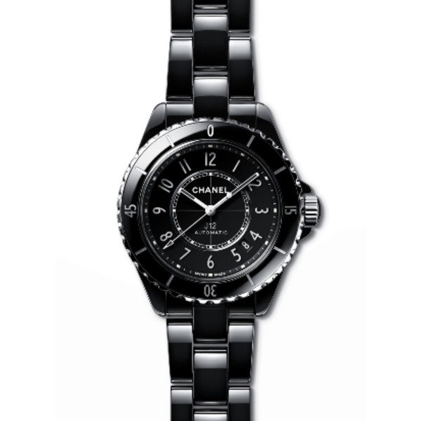 The 2019 relaunch iteration of the J12 ladies' watch in highly-resistant ceramic and steel. Image courtesy of Chanel.