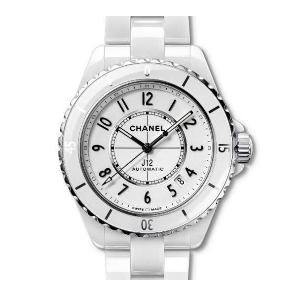 A white version of the above classic J12 ladies' dive watch. Both colours will be available on 1st May. Image courtesy of Chanel.