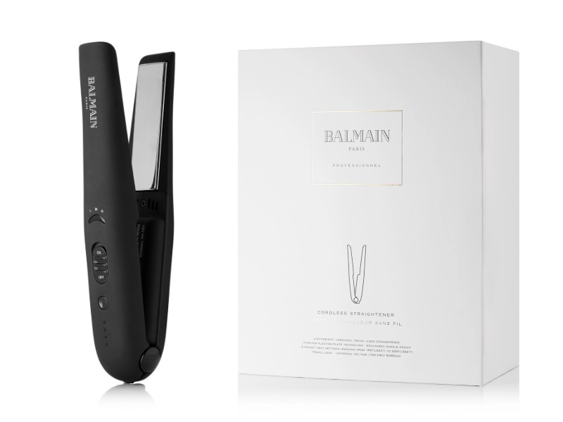 Balmain's cordless hair straightener (approximately S$550 on Net-a-Porter).