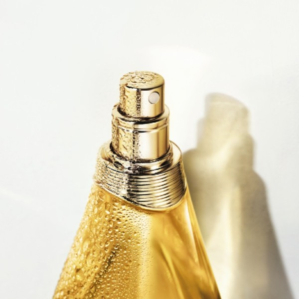 The Dior laboratories had to refine the oil's molecules so they were fine enough to pass through a spray nozzle — hence the lightweight texture of the J'adore Huile Divine. Image courtesy of Dior