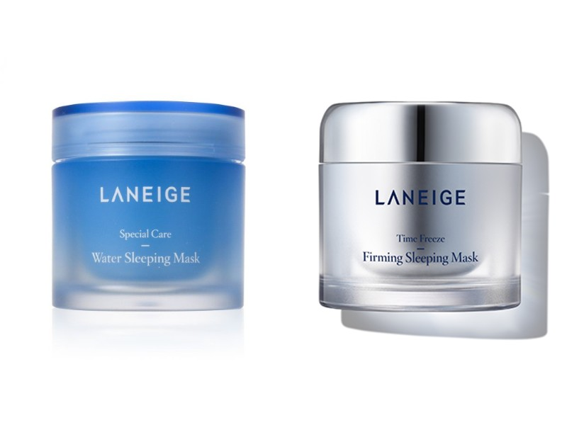 The famed Water Sleeping Mask (S$23.80) and the new Time Freeze Firming Sleeping Mask (S$27.80, both on Lazada) by Laneige.
