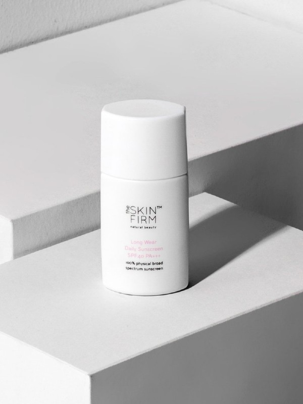 A long-wear SPF40 daily physical sunscreen with 21 ingredients (S$15.90) by The Skin Firm.