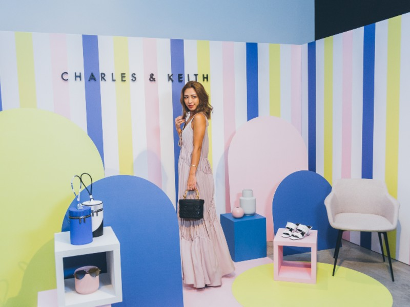 Japanese Instagrammer, Shierry (@shierry), poses for a shot amongst Charles & Keith's Spring/ Summer 2019 offerings. Image by Tung Pham.