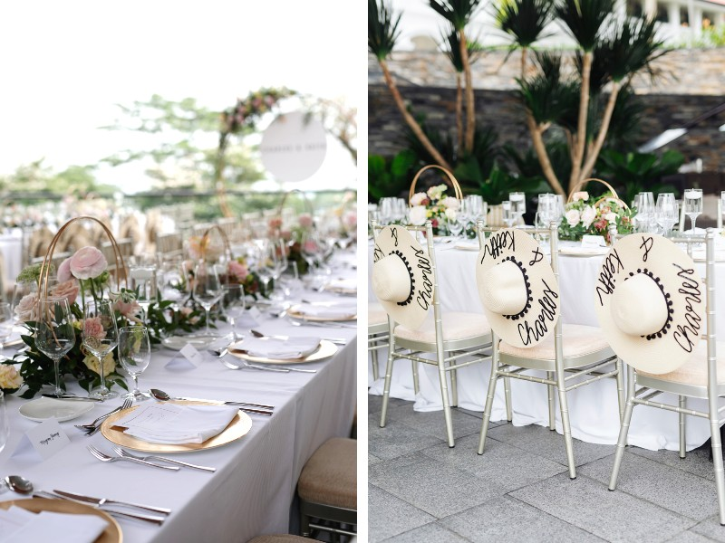 The event culminated on a high when the group gathered for a rustic garden dinner at the Capella Singapore. Image courtesy of Charles & Keith.