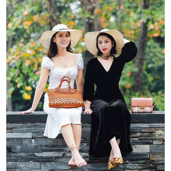 Malaysian model and influencer, Venice Min (@venicemin, left), and the Guangdong-based fashion blogger, Miss Charming.