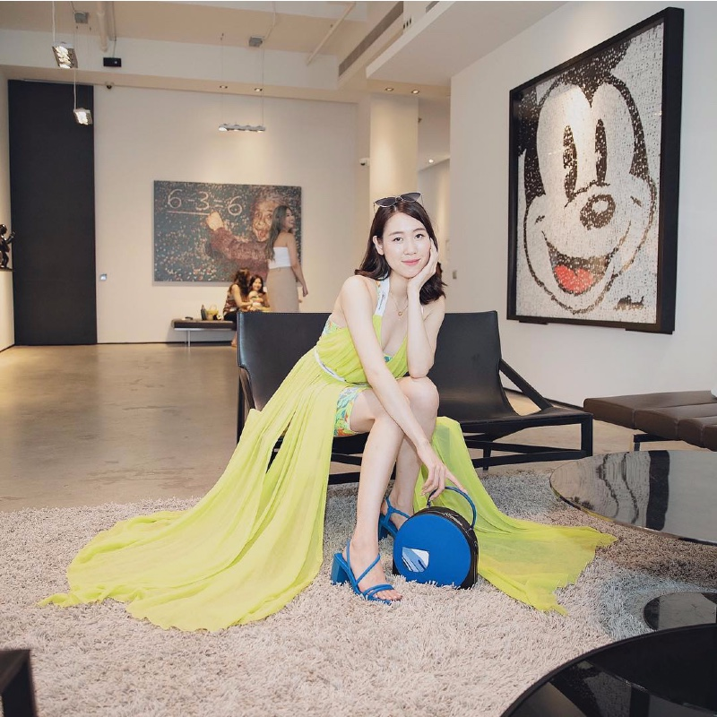 Taiwanese Youtuber, Selina Cheng (@selinayoutuber) posed for an Instagram picture at Charles & Keith's global headquarters in the Tai Seng district of Singapore.