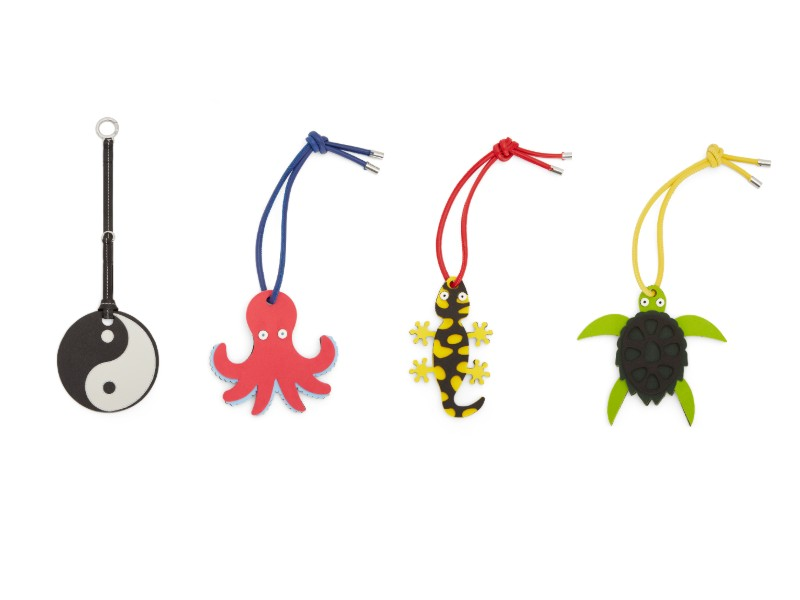 From left: a Yin Yang charm (S$490); an octopus charm (S$250); a salamander charm (S$250); a turtle charm (S$250).