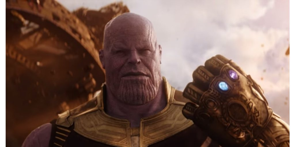 A look at Thanos' glove from the 'Avengers: Infinity Wars' official trailer.