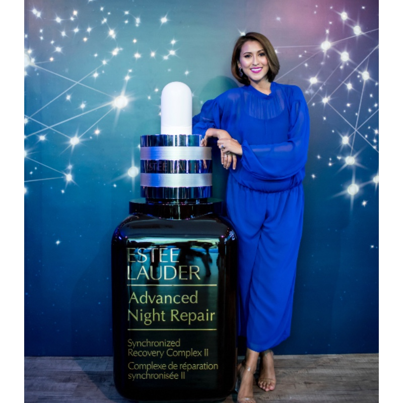 Nurul Aini, now pregnant with her third child, was named Estee Lauder's ambassador earlier this year. Image source: Estee Lauder