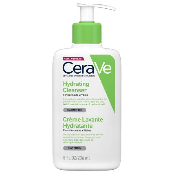 CeraVe's Hydrating Cleanser for dry to normal skin (S$6.53 for 87ml on iHerb).