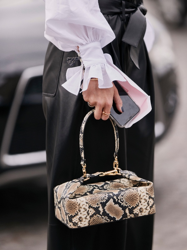 Rejina Pyo leather snakeskin-effect bag, £530 (approximately S$940). Click on captions to shop.