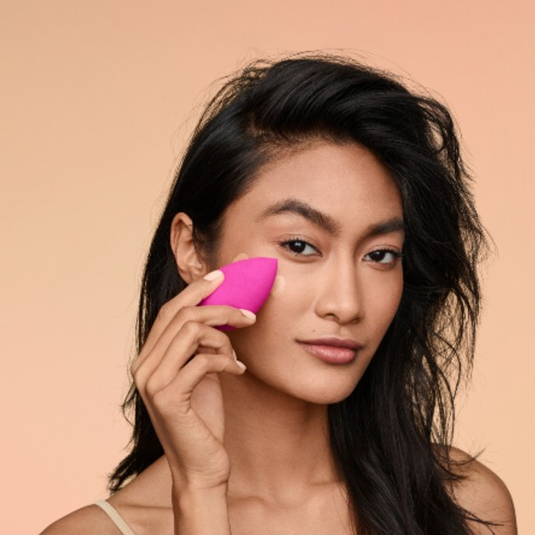 The brand's latest innovation, a liquid foundation, was engineered to be compatible with the Beautyblender.