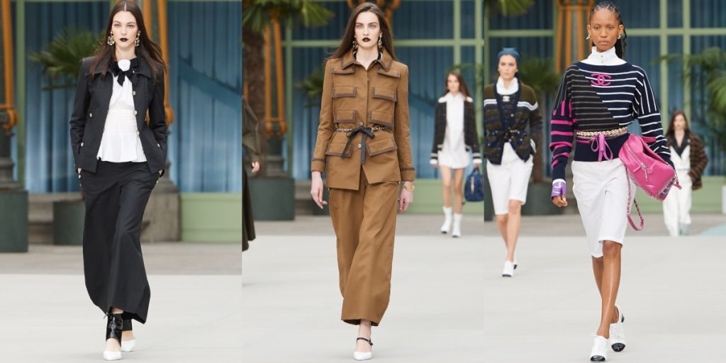 From left: Look 1, 4 & 10 (Chanel Cruise 2020)