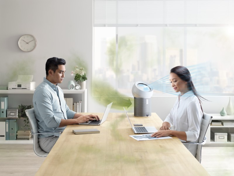 Now, you can have your own fan and clean air in your office while your co-workers bask in polluted and bacteria-filled air. Image courtesy of Dyson