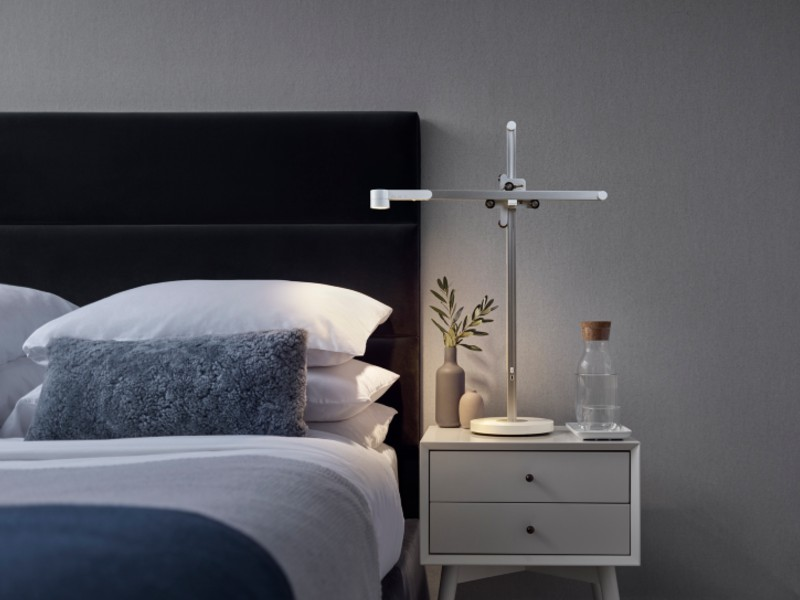 The Dyson Lightcycle task lamp will be available in stores in July at S$799 for the smaller desk iteration and S$1,199 for a floor lamp version. Image courtesy of Dyson