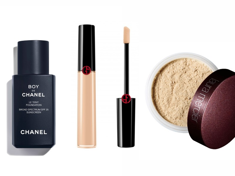 From left: the Boy De Chanel Foundation; Giorgio Armani Beauty's Power Fabric Concealer (S$60 from Tangs); Laura Mercier's Loose Powder (S$70 from Sephora).