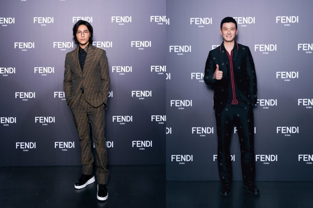 On the left, Chinese actor Chen Kun. On the right, the Chinese national badminton player, Cai Yun.