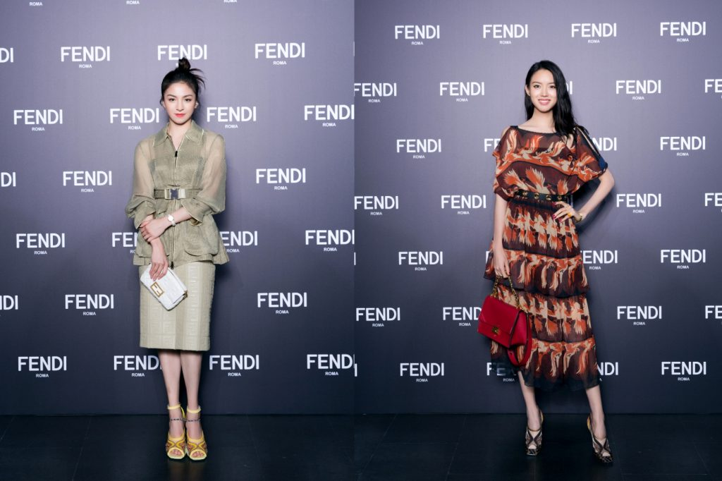 From left, the Chinese dancer Tang Shiyi and Zhang Zilin, the Miss World 2007 turned actress.